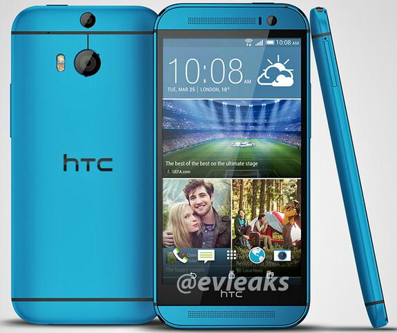 HTC One (M8) in blue - HTC One (M8) appears in blue