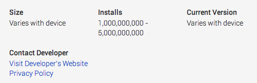 Gmail becomes the first Android app with 1 billion installs