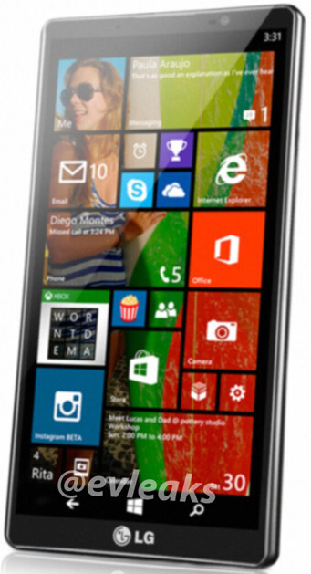LG Uni8 pops up, the company's first Windows Phone 8.1 handset