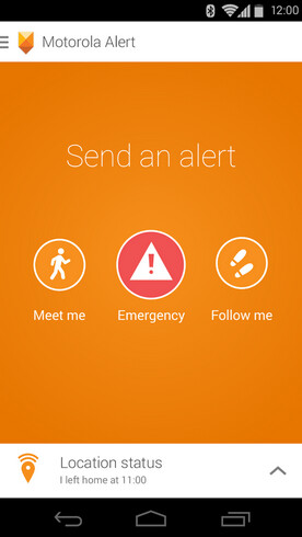 Screenshots from Motorola Alert