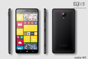 Photo purportedly showing off the Snapdragon 801 powered ZTE Nubia W5