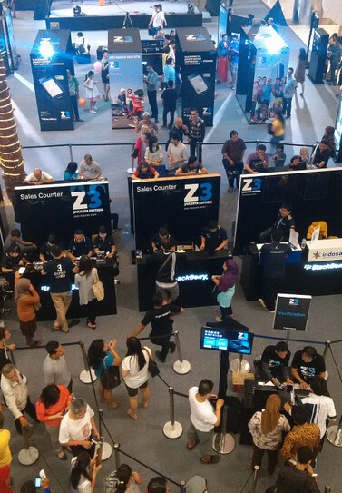 Strong launch weekend in Jakarta for the BlackBerry Z3