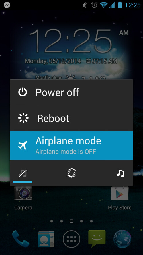 Enable Airplane mode, or turn off the device completely
