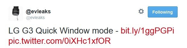 """We are treated to a sneak peak of the LG G3's """"QuickWindow"""" mode"""