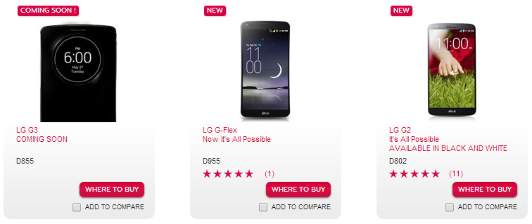 LG G3's official model number is D855 (at least in the UK)