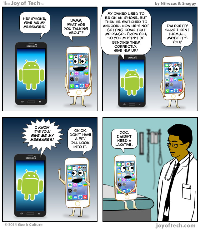 Humor: Medical science may hold the key to iMessage sending to other platforms