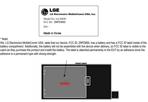 Two possible LG G3 variants appear at the FCC