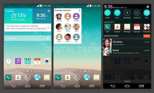 A redesigned, flatter UI