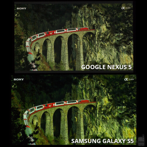 This picture reveals the GS5's tendency to over-intensify the green colors, as a result of which, the columns of the bridge, as well as the rocks appear unnaturally-green.