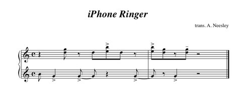 The original, 18-tone marimba ringtone transcribed - Did you know: the story behind the original iPhone marimba ringtone, and the science of ringtones