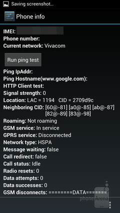 Hidden service menu on Android