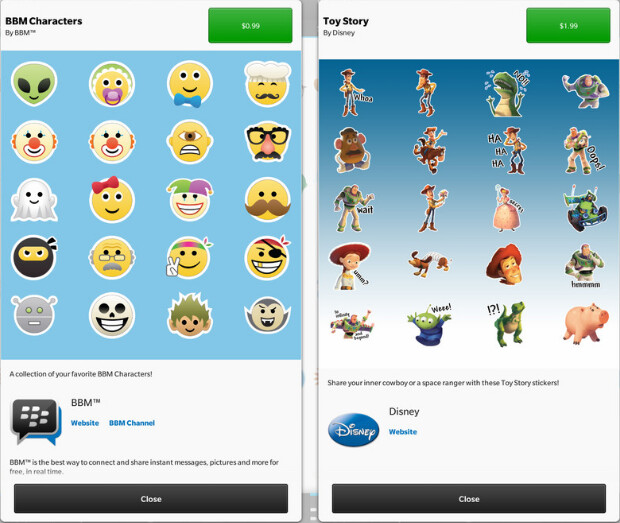 New stickers available for BBM - BBM offering Disney Toy Story stickers