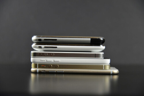 iPhone 6 alongside the entire iPhone family