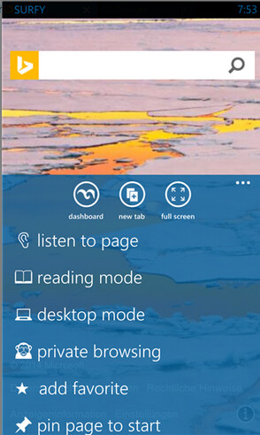 Surfy is a third party browser for Windows Phone 8 and Windows Phone 8.1 - Surfy Browser for Windows Phone 8 and 8.1 is updated with new features