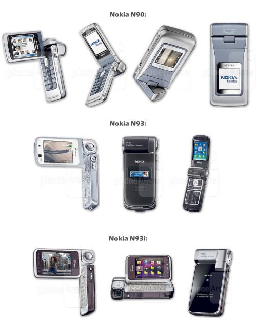 Nokia N90, N93 and N93i
