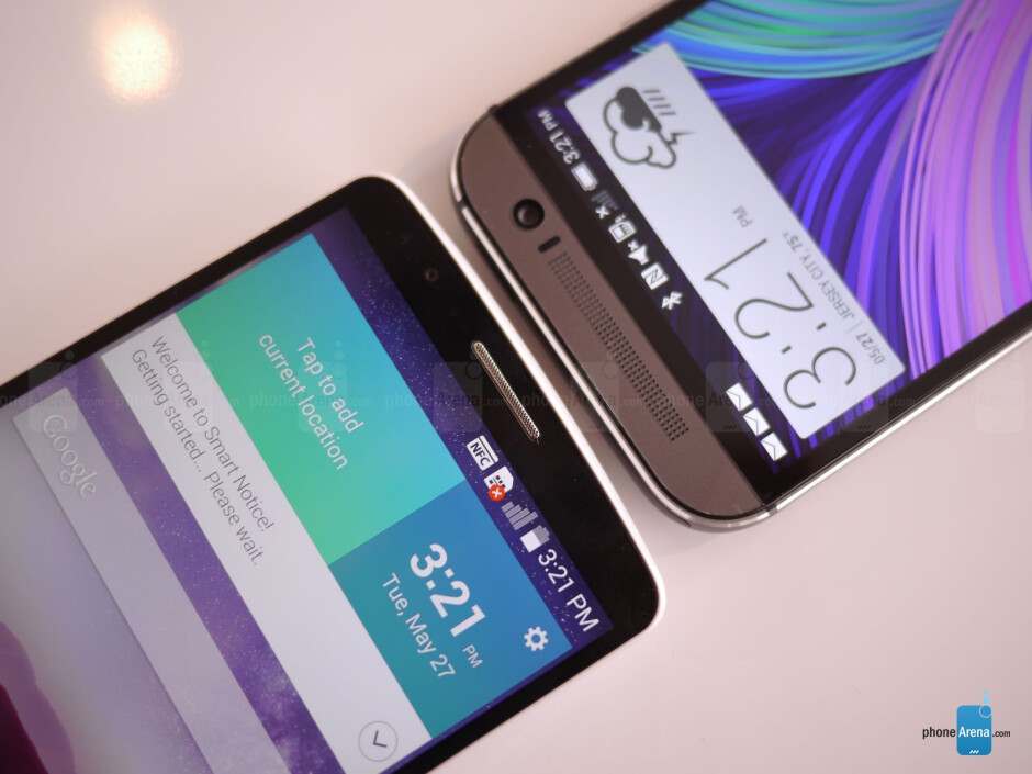 LG G3 vs HTC One (M8): first look