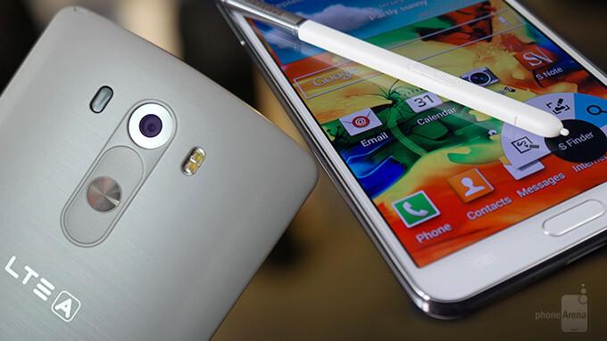 LG G3 vs Samsung Galaxy Note 3: first look