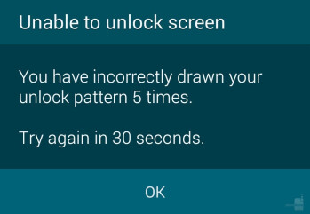 As far as the fingerprint scanner on the S5 is concerned, this is a more common sight than you'd like to believe. Ugh!