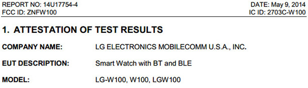 One version of the LG G Watch meets the FCC  - One version of the LG G Watch visits the FCC