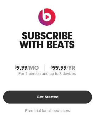 Beats Music has a new pricing scheme - After purchase by Apple, Beats Music drops its price, doubles the trial period