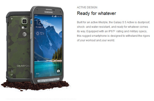 Samsung Galaxy S5 Active now available at AT&T
