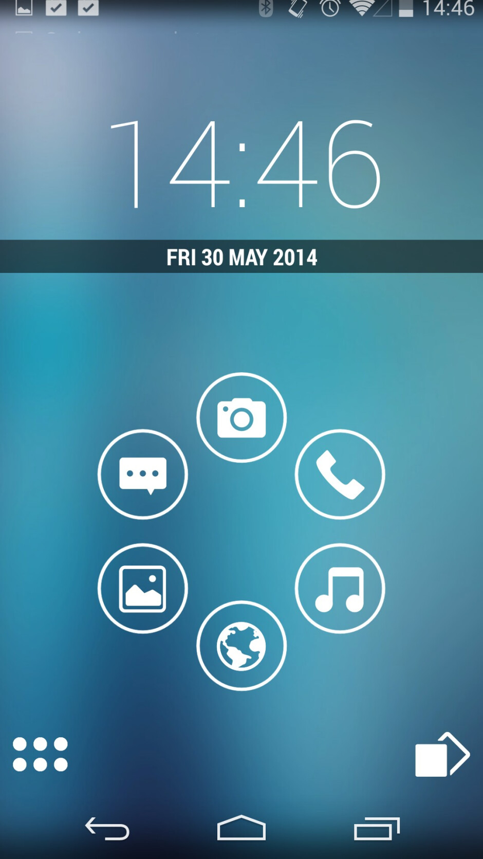 The rotary dial bubbles can be folders, shortcuts, and even pop-up widgets - Smart Launcher Pro 2 review: clean energy