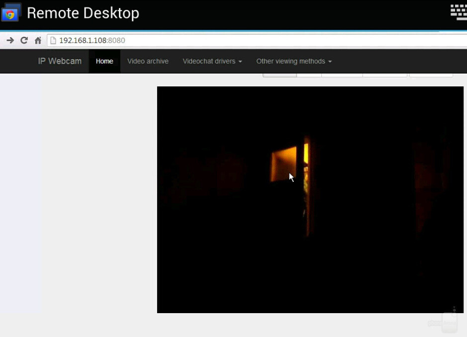 IP Webcam via Chrome Remote Desktop - How to use an Android phone as a security camera or a baby monitor