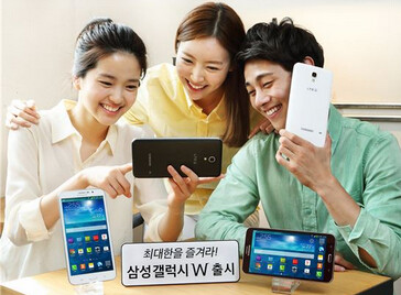The 7 inch Samsung Galaxy W handset has launched in Korea - Samsung launches its 7 inch handset in Korea