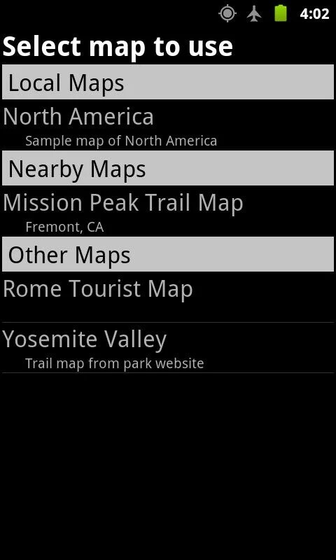 Custom Maps lets you track your GPS position on paper maps