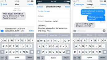 The new QuickType keyboard borrows a page from Android with word suggestions, and goes farther still.