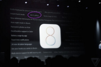 Screenshot from WWDC reveals Wi-Fi calling for iOS 8
