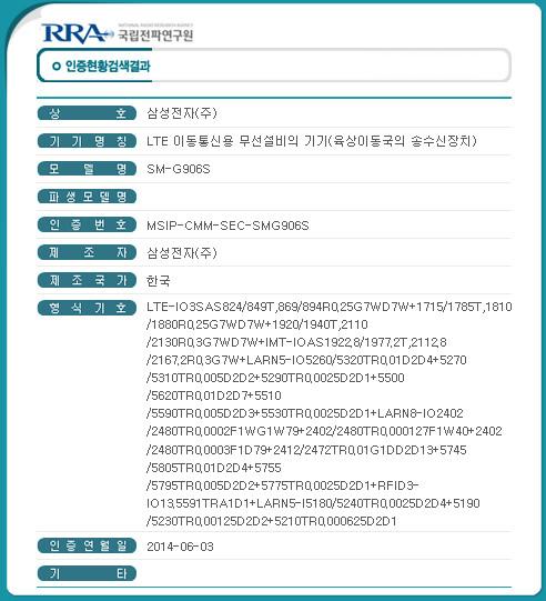 Certification for the model going to SKT