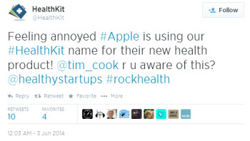 Australian start-up tweets Apple about the use of its name for an app