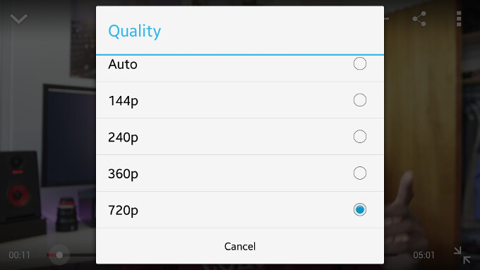 YouTube quality settings for video streaming - YouTube for Android now allows you to choose video streaming quality, finally