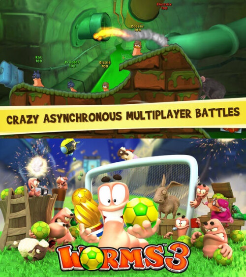 Worms 3 - Android, iOS - $3.99
