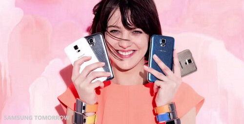 Samsung turns to Vogue to promote its Galaxy S5 and Gear wearables, the results are pretty hot