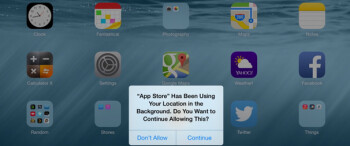 In iOS 8, users are asked if they still want to grant permission so that specific apps can still use location data apps permission to use location data