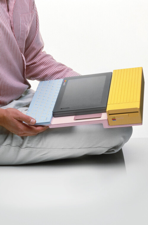 That same tablet cradled in a keyboard-and-power-supply dock.