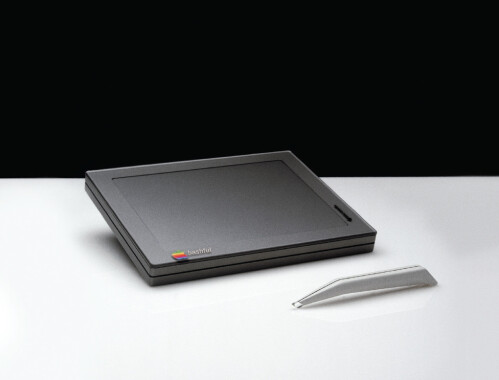 A prototype Apple tablet with a stylus