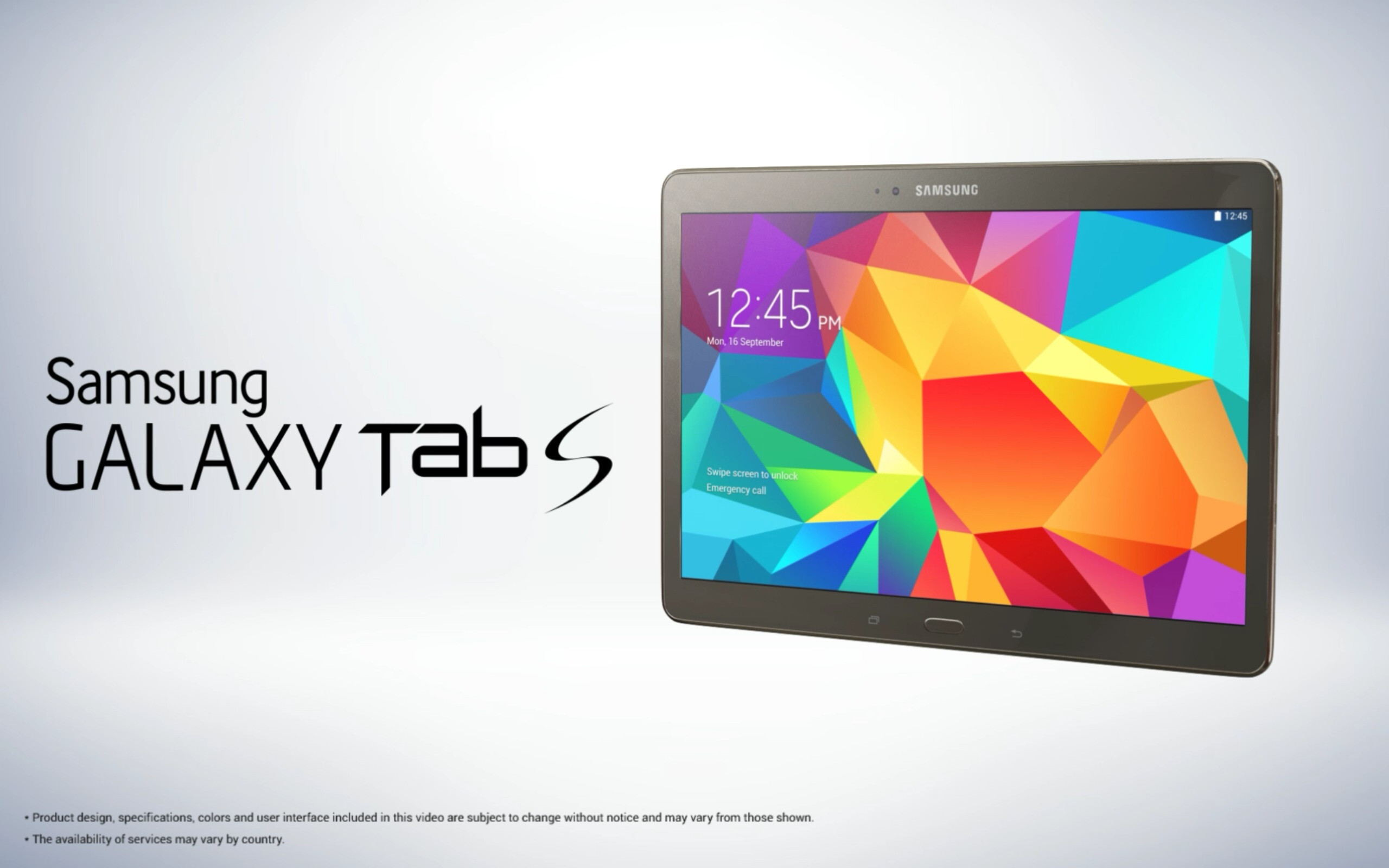 new samsung galaxy tab s 10 5 images show how thin the. Black Bedroom Furniture Sets. Home Design Ideas