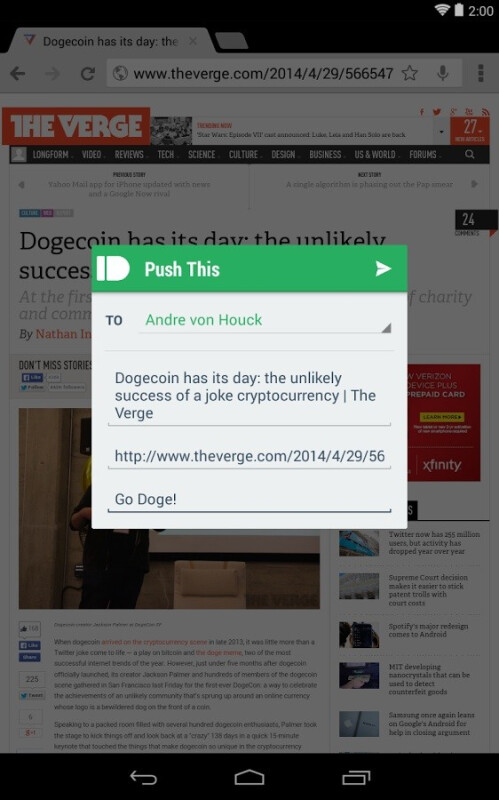 Pushbullet shows all of your phone's notifications right on your PC