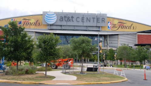 AT&T Center, where the AC failed during the NBA Finals