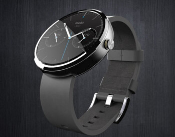The Motorola Moto 360 (R) makes its Tonight Show debut at left