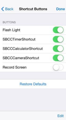 Internal iOS 8 Beta has customizable controls for Control Center