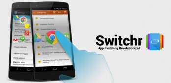 Switchr offers a polished app switching experience that your thumbs will love