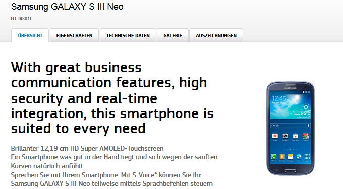 Samsung Galaxy S III Neo with Android 4.4 KitKat makes official debut in Europe