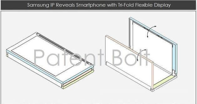 """Tri-foldable display patent"""" &nbsp - Samsung to out a 9""""-to-5"""" foldable display device in early 2015, claims Korean media"""