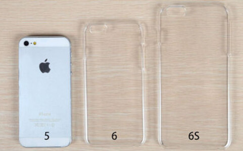 Pictures compare the Apple iPhone 5 to cases for the iPhone 6 and the iPhone 6s