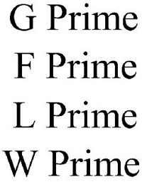G Prime, F Prime, L Prime, and W Prime may be future LG smartphones