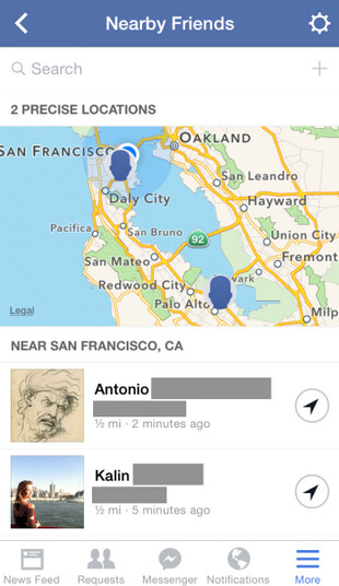 Nearby Friend shows you how far away your pals are from you